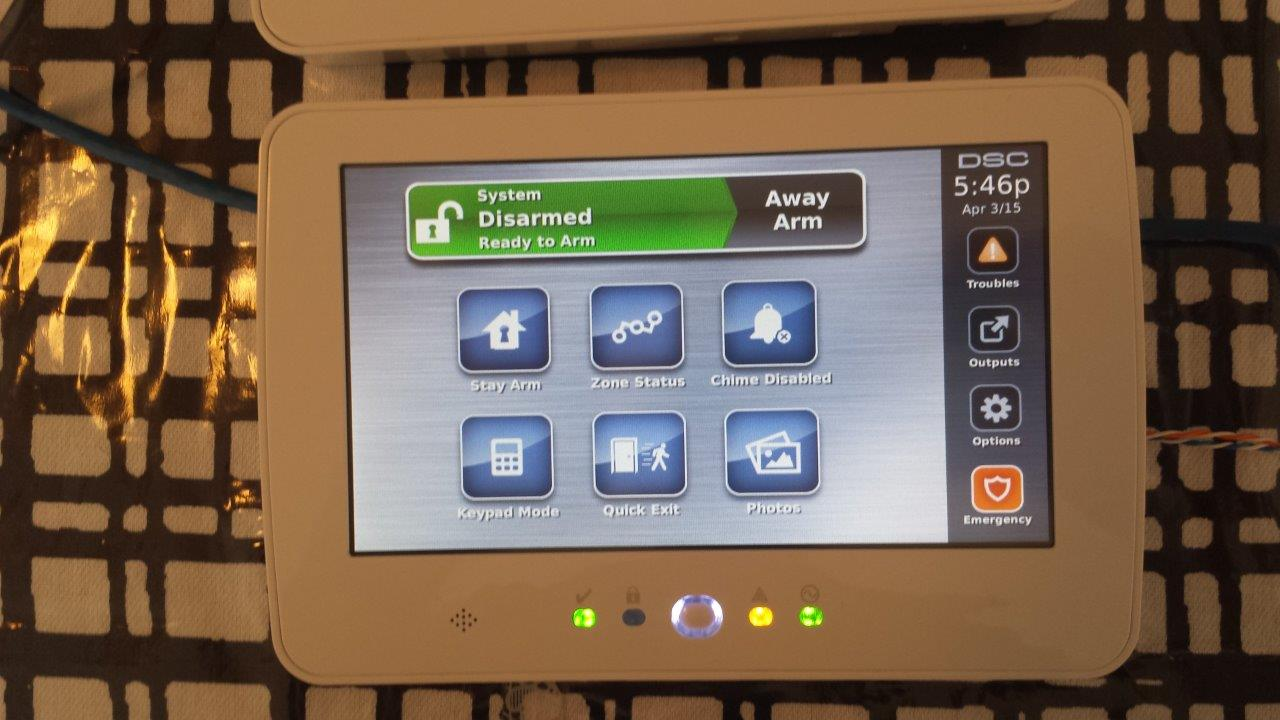 Touch Screen Security System, Alarm, Smart security tablet